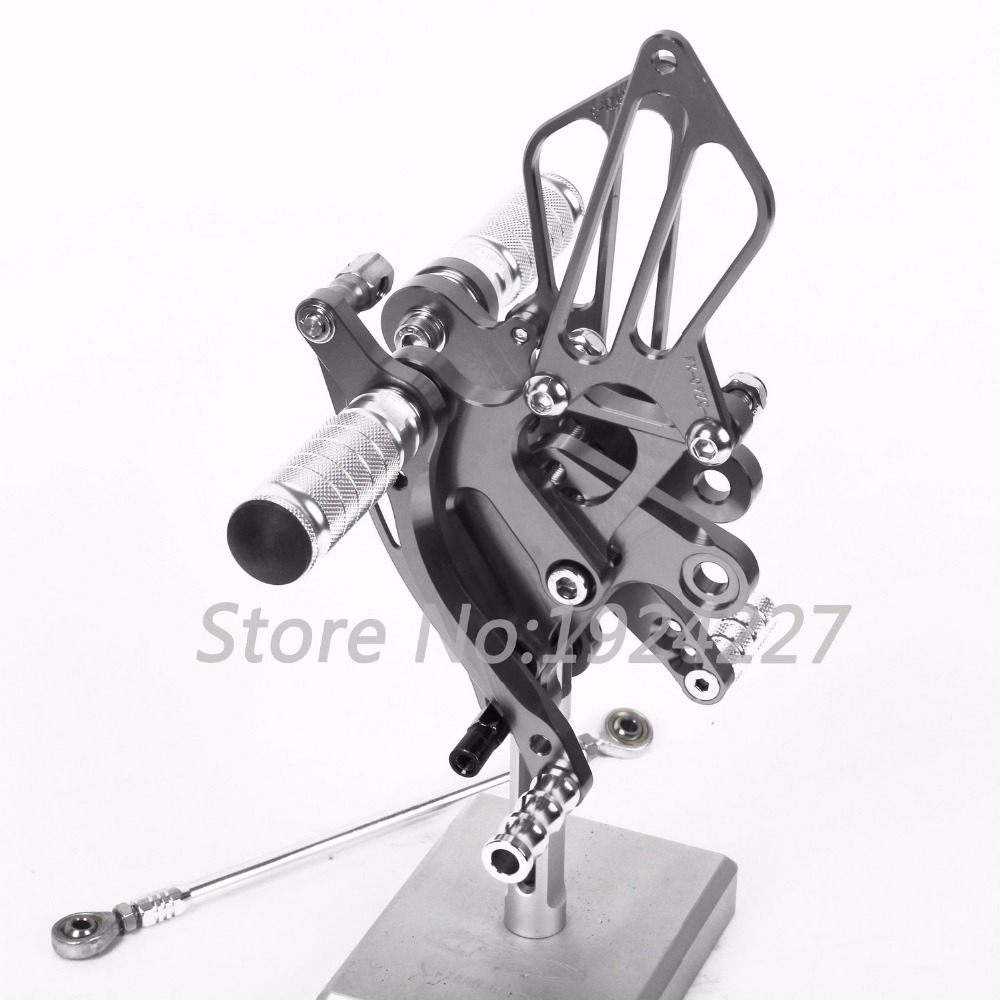 все цены на CNC Aluminum Foot Pegs Rearsets Rear Sets Brake Shift Motorcycle Adjustable For Suzuki GSXR 1300 Hayabusa 1999-2008 2007 2006