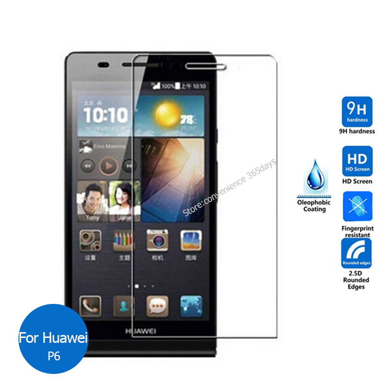 For Huawei Ascend P6 Tempered Glass Screen Protector 2.5 9h Safety Protective Film on P6S P6 S P 6 P6-C00 GL11S P6-T00