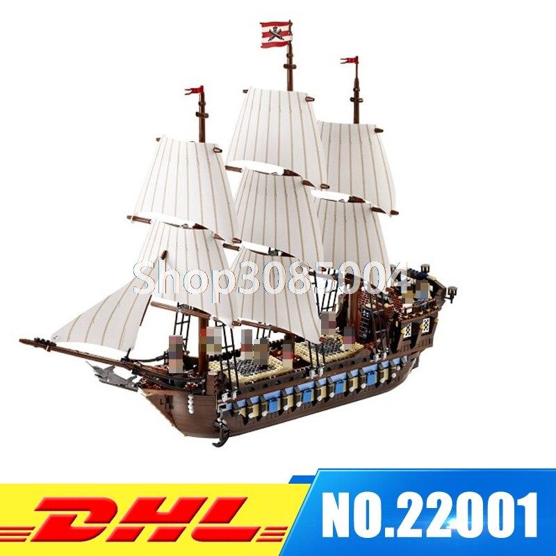EN STOCK NUEVO LEPIN 22001 Barco Pirata Modelo Kits de Construcción de buques de guerra Imperial Briks de Bloques Juguetes de Regalo 1717 unids Compatible 10210