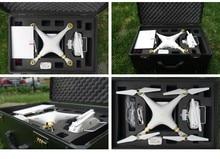 DJI phantom 4 estándar Alta calidad caja de aluminio de protección para 3 DJI Phantom Quadcopter RC Helicóptero FPV Aérea carro caso