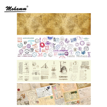 100mm Retro Map Letter Postmark Washi Tape Decorative Adhesive Tape Masking Tape School Office Supply Sticker Label Stationery