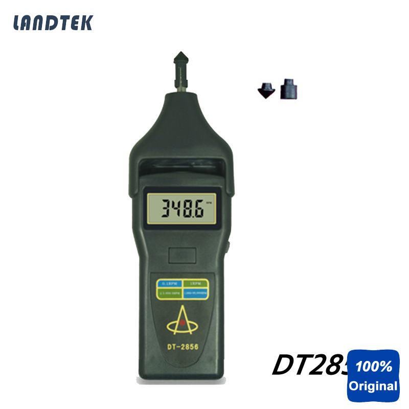 DT2856 Laser Tachometer Portable Digital Tachometer photo touch type tachometer dt 2856