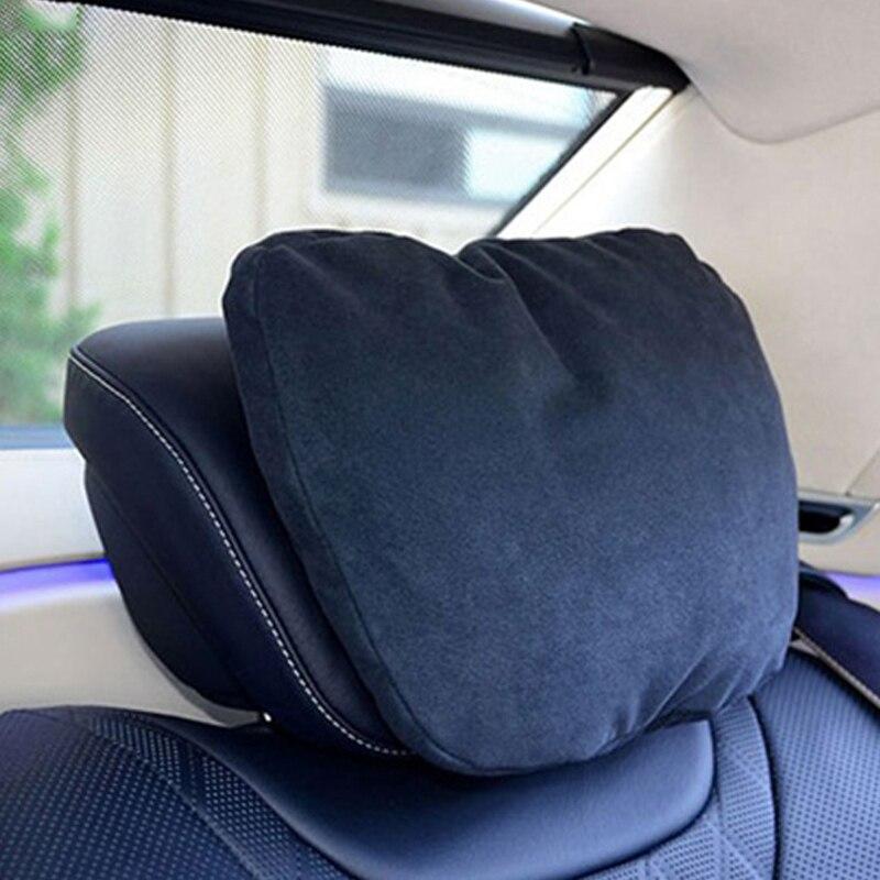 Araba Koltuğu Boyun Kadife Peluş Oto Kafalık Yastık Destekler - Araç Içi Aksesuarları - Fotoğraf 1