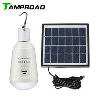 TAMPROAD Mini Portable Solar LED Lanterns Hanging Tent Lamp Light Emergency Solar Rechargeable Camping Lantern