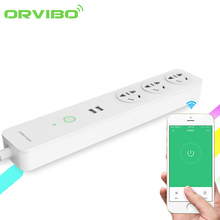 Orvibo New Coco Smart Power Socket Plug Strip 2 USB Port 8A WiFi 4G Connection Remote Control Available 3-Outlet For Smart Home