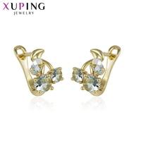Xuping Fashion Eenvoudige Oorbellen Sieraden Met Goud Kleur Plated Koper voor Vrouwen Thanksgiving Gift S54, 4-93114