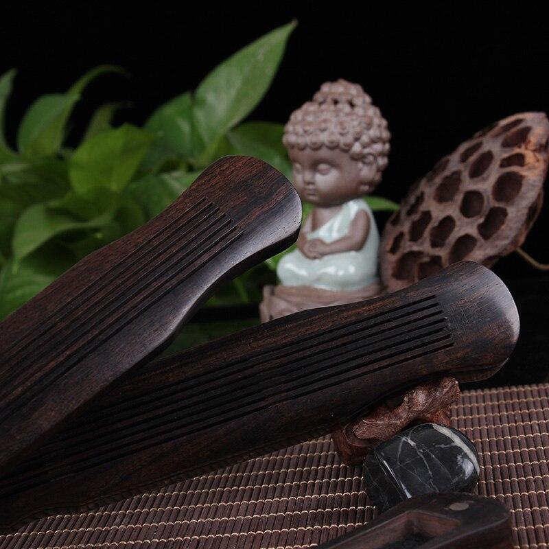 Guqin-bedroom wooden incense burner censer ebony fragrance of sandalwood joss sticks box