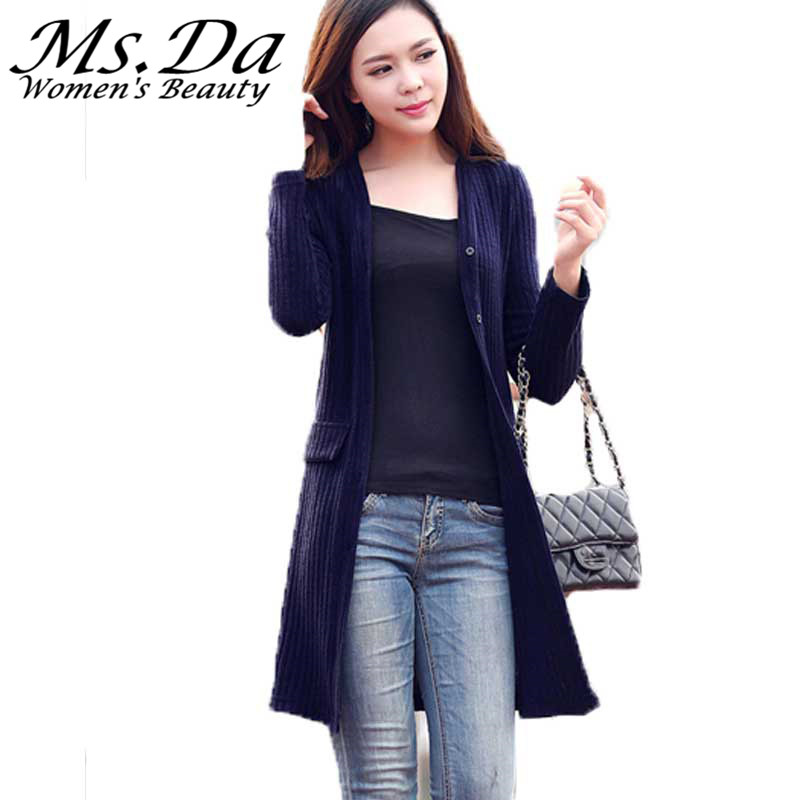 Plus Size Long Cardigans Women Knitted Sweaters 2015 New Autumn ...