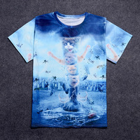 Nandi Poems Burst 2017 Summer New European And American Trend Men S 3D City And Cat