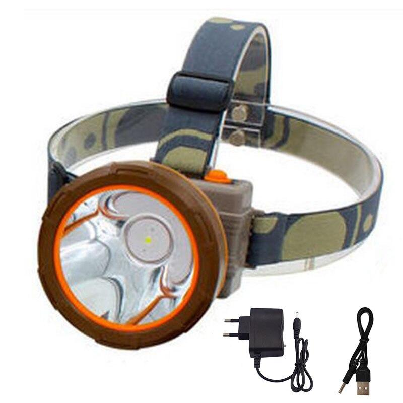 Haute Puissance led Phare frontale Projecteur lampe de poche Tête de La Torche Lampe lampe étanche Pour La pêche Camping Rechargeable batterie
