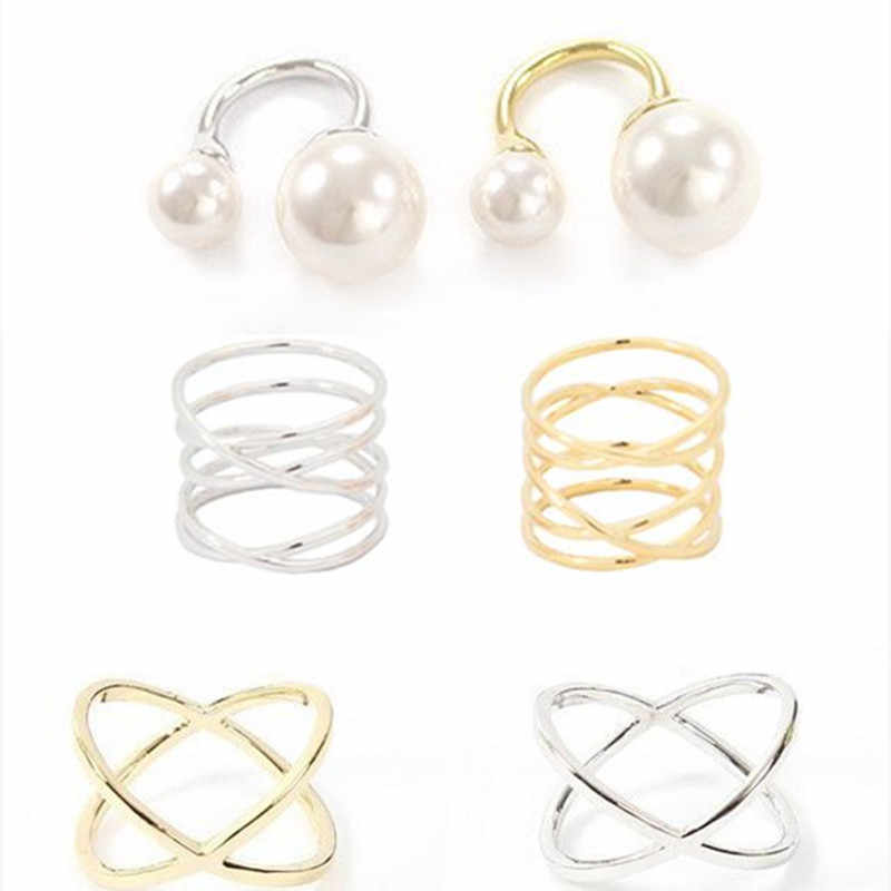 New fashion Wide Gold Color Multilayer Hollow Rings for Women Trendy Stack Ring Jewelry Smooth Simple Wedding Couples Ring Gift