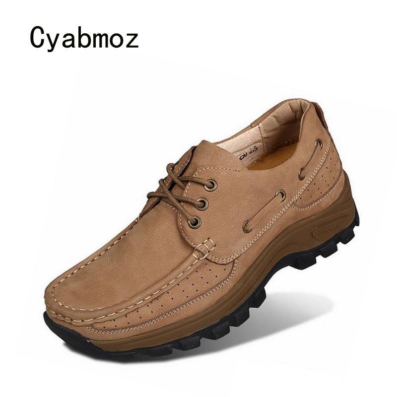 Cyabmoz Для мужчин Высота обувь со скрытым каблуком модные брендовые на платформе, увеличивающая рост дышащая обувь на шнуровке незаметно 7 см