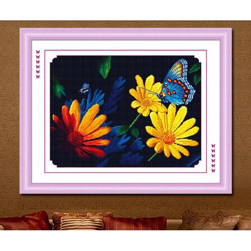 82x64CM Diy 5D kerek gyémántfestés Cross Stitch virágok Pillangó - Művészet, kézművesség és varrás