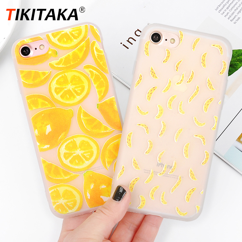 US $1 35 35% OFF|Fashion Painting fruit cactus Phone Case for iPhone X XS  XR XS Max 6 6S 7 Plus 8 Plus Colorful Soft plant Pattern Back Cover-in