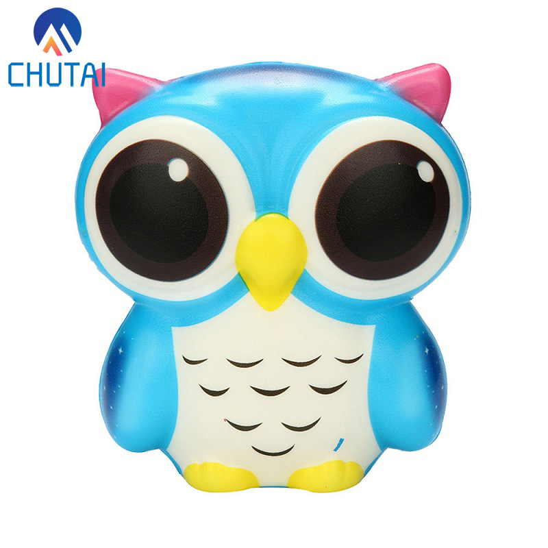 Exquisite Fun Adorable Owl Squishy Slow Rising Cartoon Doll Cream Scented Stress Relief Toy Antistress Toys For Baby Kids 10*8CM