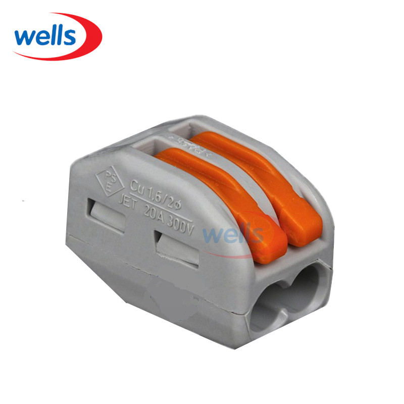 LED 10 pcs WAGO PCT212 2 pin Conductor Wiring Connector Universal Compact Wire Terminal Block With Lever AWG 28-12 50pcs 221 413 original wago connector led connector compact splicing connectors 3 conductor connector original wago terminals