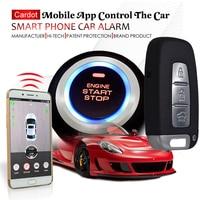 Автомобильная GSM машина сигнализация с паролями сенсорная клавиатура без ключа вход мобильное приложение начать остановить двигатель моби