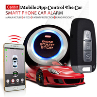 automotive gsm car alarm system with passwords touch key pad keyless entry mobile app start stop engine mobile voice monitoring
