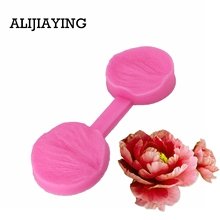 M0776 DIY 3D Peony Flower Petals Embossed Silicone Mold Fondant Cake Decorating Tools Chocolate Gumpaste Candy Clay Moulds