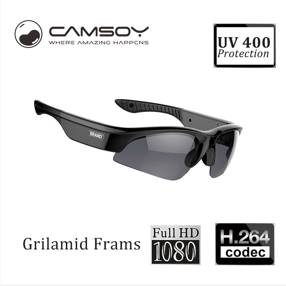 9d5739cd55 Camsoy SS80 Full 1080P Sunglasses Camera For Outdoor Action Glasses Camera  Digital Sunglasses Mini Camera HD