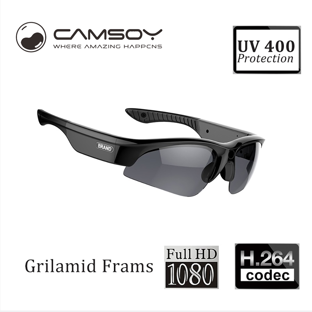 Camsoy SS80 Full 1080P Sunglasses Camera For Outdoor Action Glasses Camera Digital Sunglasses Mini Camera HD topeak outdoor sports cycling photochromic sun glasses bicycle sunglasses mtb nxt lenses glasses eyewear goggles 3 colors
