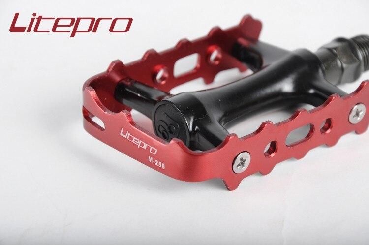 Vélo vélo vélo Litepro M258 ultra-léger pliant pédales BMX pédale vélo roulement pédales BMX pièces