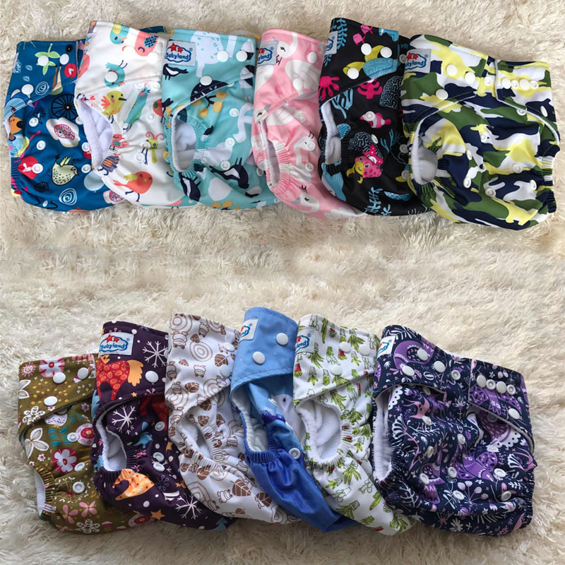Free Shipping BABYLAND Baby Cloth Diapers My Choice Designs Reusable Washable Microfleece Nappy Pocket Diaper Covers Factory