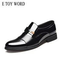E TOY WORD 2019 Spring Autumn men formal shoes leather Quality Zapatos hombre Size Black dress shoes men Classic Business shoes