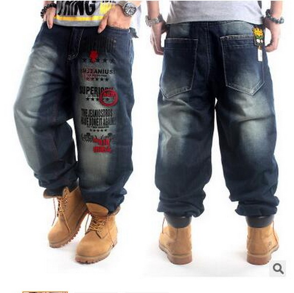 New Trend Hip-hop Men Baggy Jeans Denim Washing Jeans Men Hip Hop Jeans Boy Casual Skateboard Relaxed Fit Jeans Mens Harem Pants
