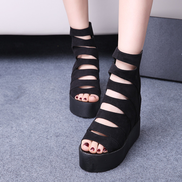 2017 Women Gladiator Platform Sandals Summer Casual Shoes Woman Platform Wedges High Heels Slippers Sandalias Zapatos Mujer vtota summer shoes woman platform sandals women soft leather casual peep toe gladiator wedges women shoes zapatos mujer a89