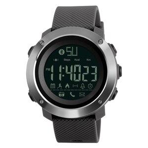 Image 3 - Skmei Fashion Bluetooth Smart Men Watches Calorie Digital Sports Pedometer LED Watch Call Reminder Waterproof Wristwatch Zegarki