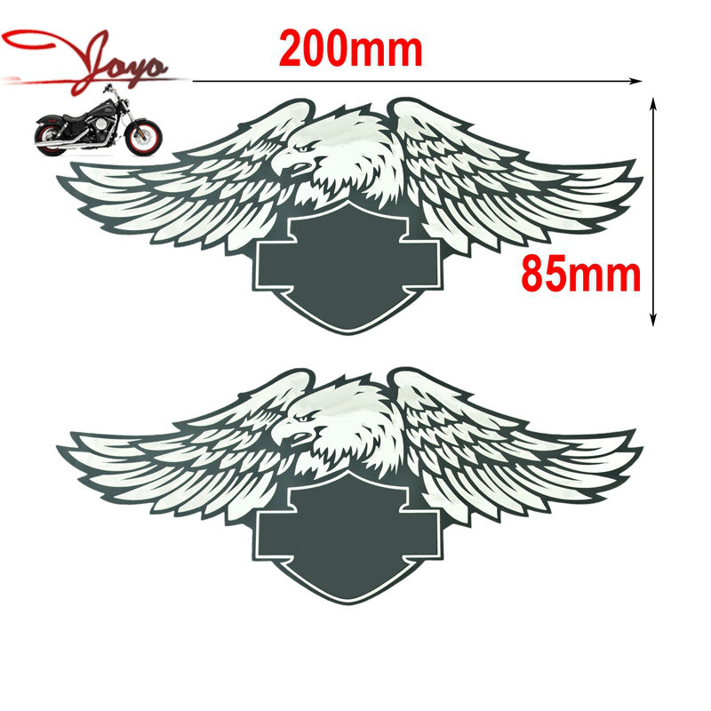 Motorcycle Tank Decals Eagle Sticker For Harley Sportster Dyna Touring Softail Road King Street Glide Road Glide Electra Glide