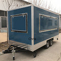 Электрическая квадратная Мобильная тележка для еды  тележки для мороженого на продажу  двухосный грузовик для еды