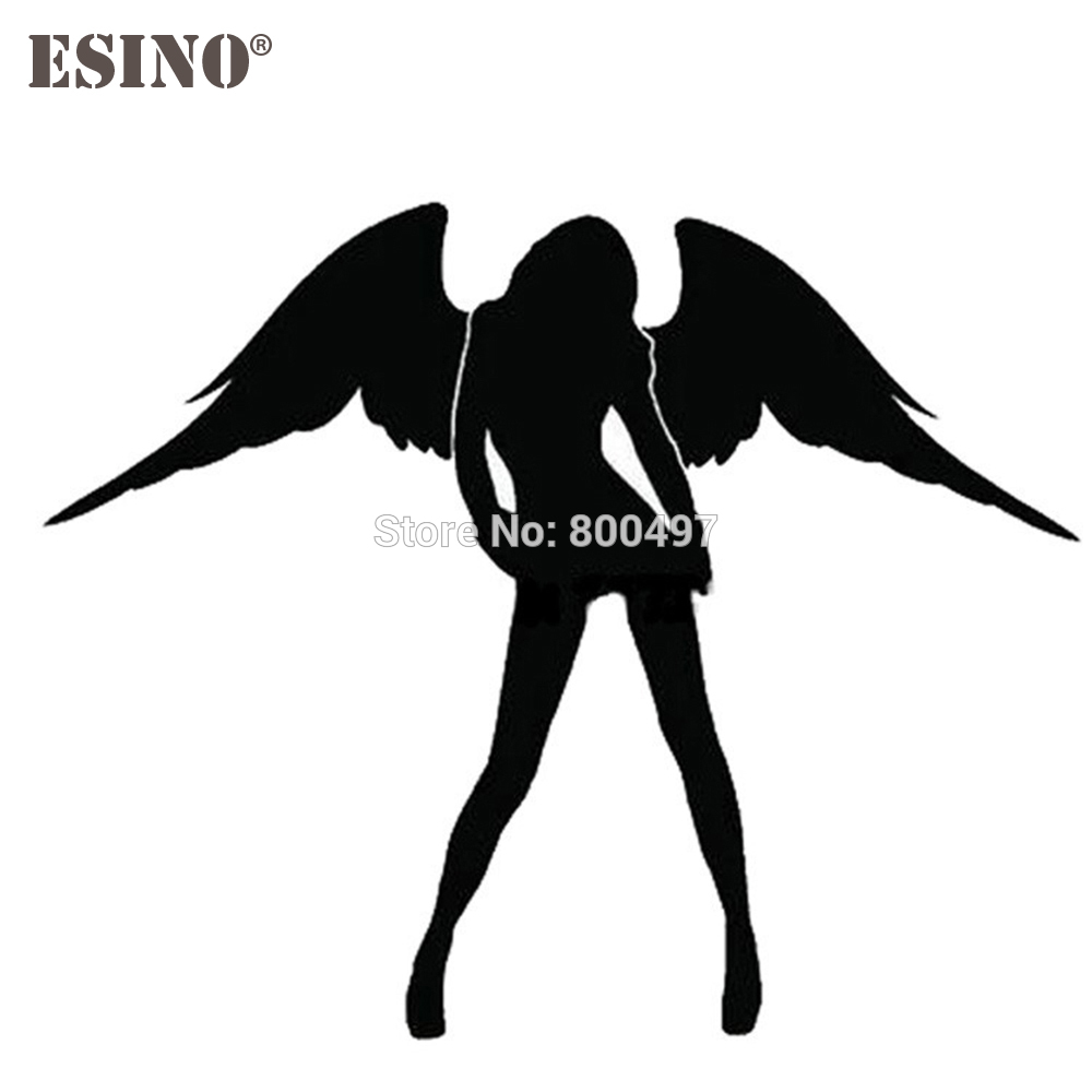 New Angel And Evil <font><b>Sexy</b></font> Girl Car Creative Accessory Decal Cartoon Car Reflective Sticker Body Decal Creative Pattern Vinyl image