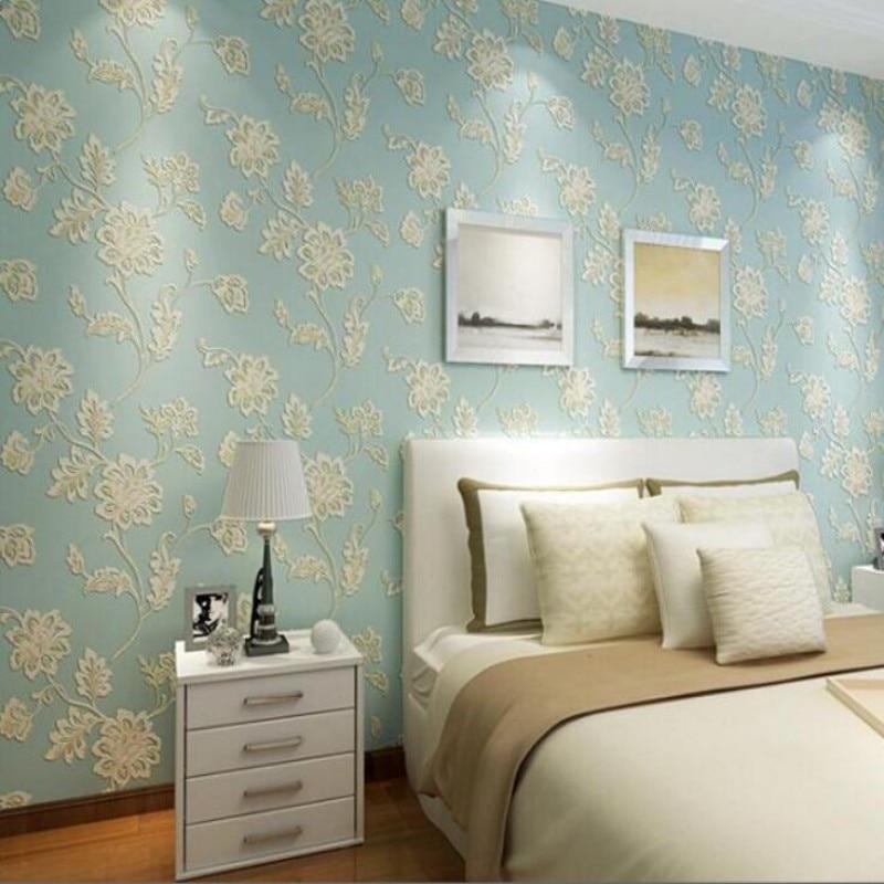 ФОТО Warm pastoral dimensional relief flower Beibehang wallpaper bedroom living room wallpaper shop for restaurant background