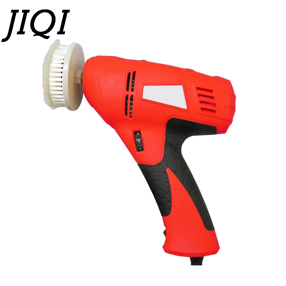 JIQI Household shoe polisher electric mini hand-held portable Leather Polishing machine polisher shoes cleaning brush cleaner E 1 pc 220v 100w automatic shoe machine utilities electric induction luxurious hall household brush shoes
