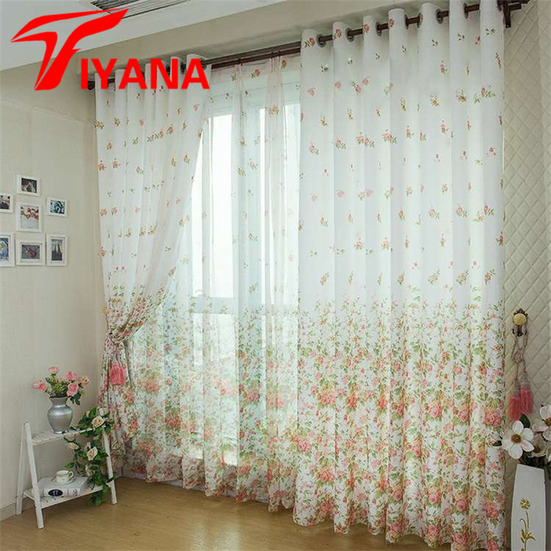 High Grade Korean Rural Wind Sitting Room Bedroom Half Curtain Finished  Cloth Curtain Custom Decorative