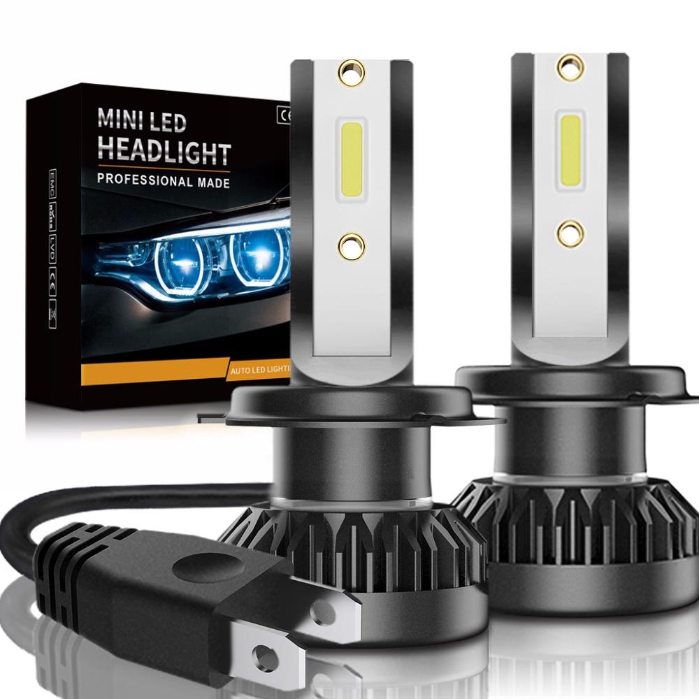 2 stks auto koplamp mini lamp h7 led lampen h1 led h7 h8 h11 koplampen kit 9005 hb3 9006 hb4 voor auto 12 v led lamp 60 w 8000lm