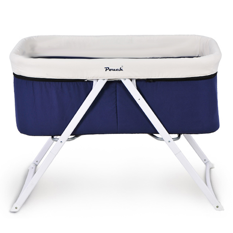 Fashion Baby Cribs Europe Style Portable Baby Bed Folding Infant Cradle Multi function Baby Shaker Aluminum Alloy Frame in Baby Cribs from Mother & Kids - portable baby sleeper