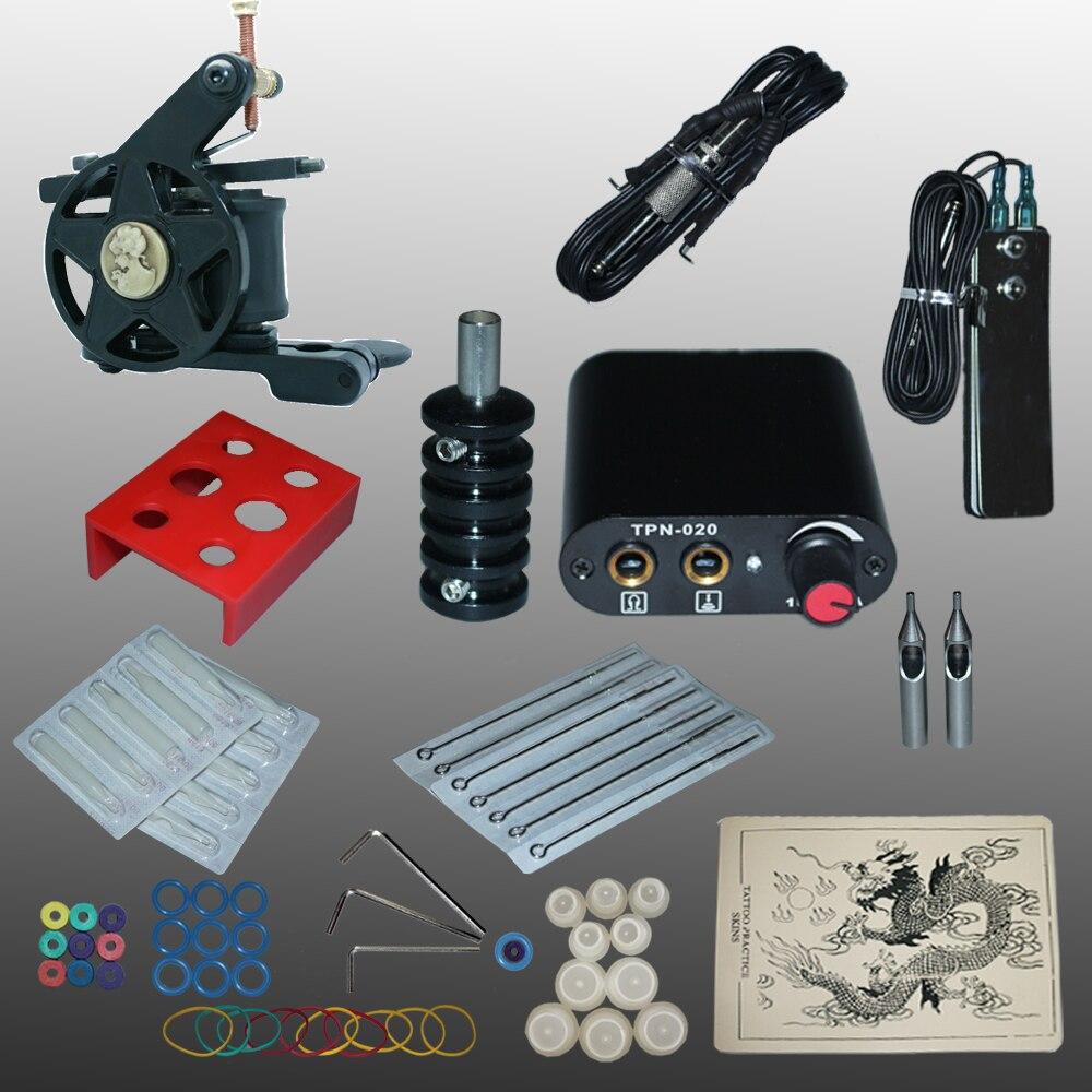 ФОТО New Arrival 1 set Tattoo Kit Power Supply Gun  Complete Set Equipment Machine Wholesale 1110401kitA