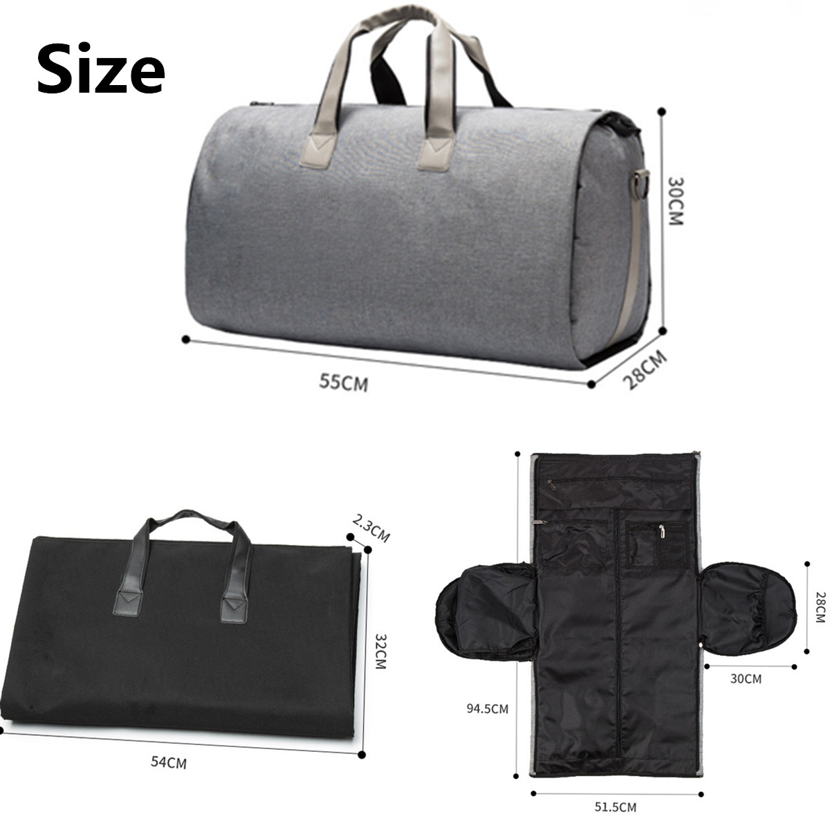 2 en 1 grand bagage femmes voyage sac hommes week-end Fitness chaussures stockage sac à bandoulière polochon fourre-tout étanche loisirs sac à main