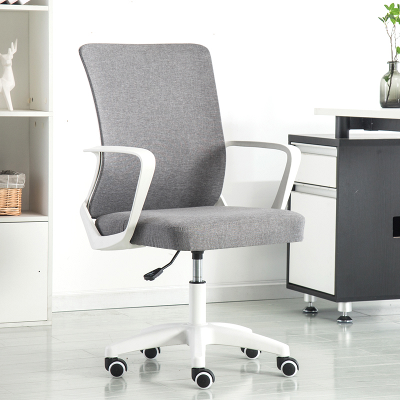 Suitable For Computer Working And Meeting And Reception Place Computer Desk Chair Comfort Swivel Fabric Home Office Task Chair Furniture