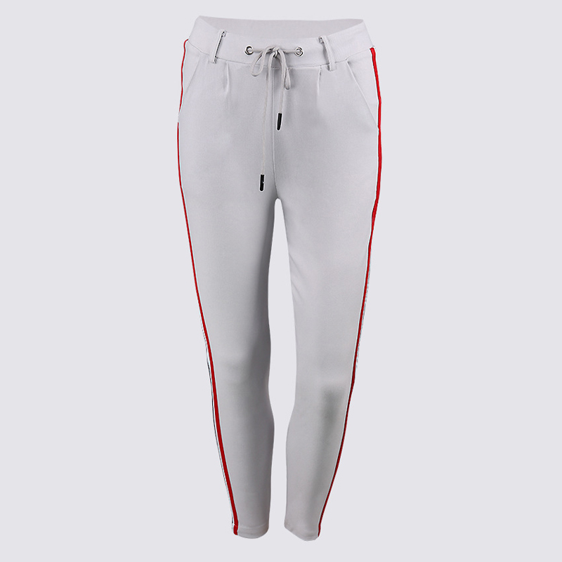 HTB1lSvMggMPMeJjy1Xcq6xpppXa1 - FREE SHIPPING High Waist Knit Red Striped Sideseam Sweatpants JKP257