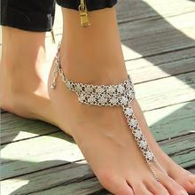 Min. order $10. Free shipping! Tassels Ancient Silver metal Flower foot Anklets Bracelet. Smart Star Bangle Summer Beach Jewelry