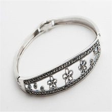 Natural 925 Sterling Silver Bracelet Drop Shipping Fashion Women Silver Bracelet Folk Custom Trendy Only One Silver 2018 Newly