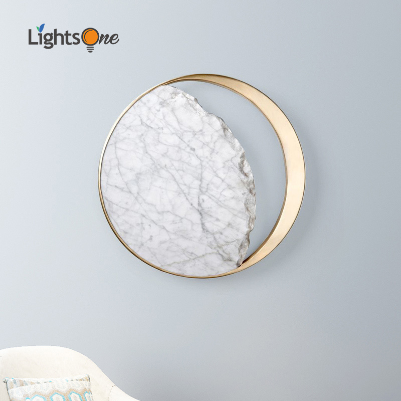 Nordic Postmodern Creative Stainless Steel Wall Light Passage Corridor Stair Gallery Living Room Bedside Wall Lamp
