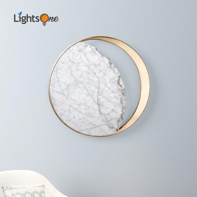 Nordic Postmodern Creative Stainless Steel Wall Light Passage Corridor Stair Gallery Living Room Bedside Wall Lamp
