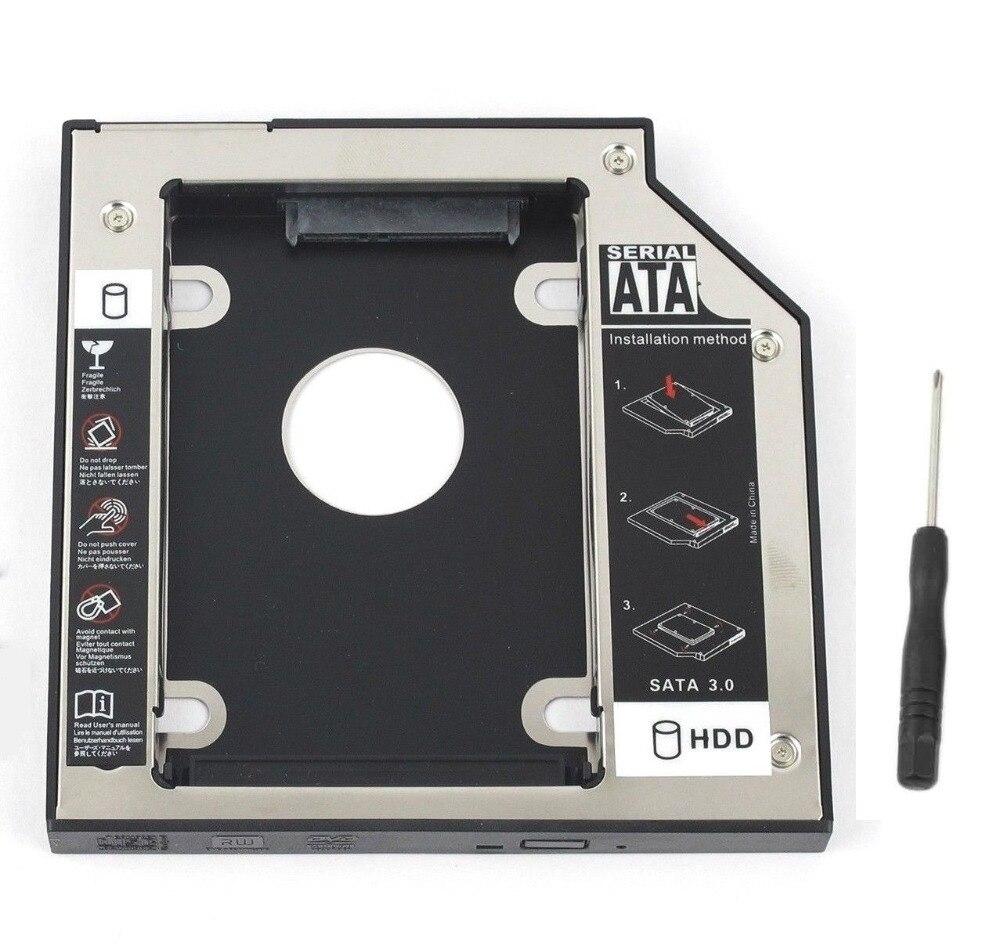 WZSM новый 9,5 мм SATA 2nd SSD HDD Caddy для DELL Precision M4500 M4700 M6500 M6700 жесткий диск Caddy Бесплатная доставка