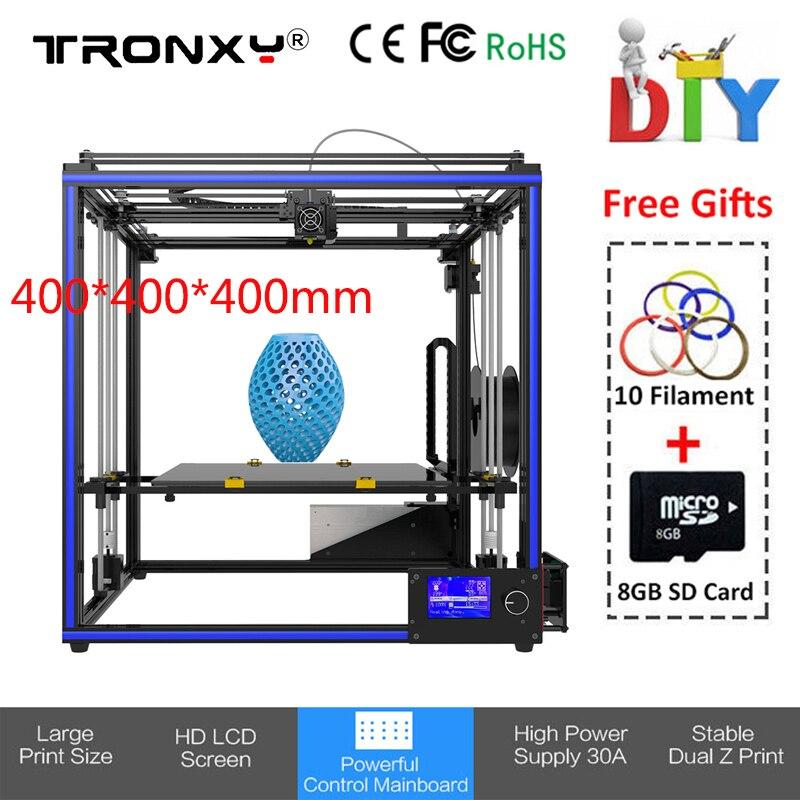 2018 Tronxy X5S 400 3d Принтер Высокоточный DIY Набор Reprap i3 400*400*400 мм большой размер печати экструдер металлический 3d принтер PLA ABS