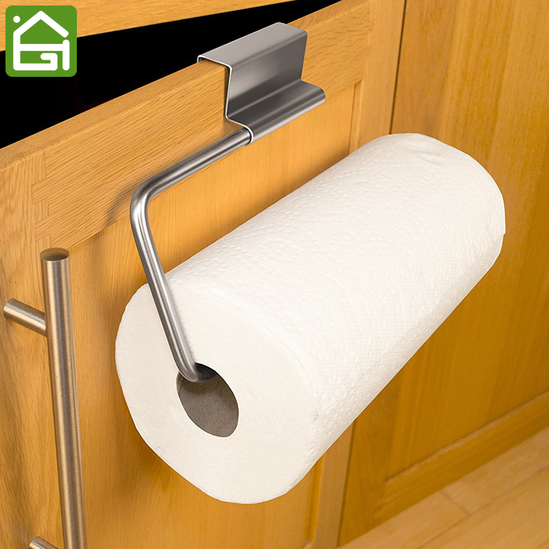 Us 11 49 35 Off Stainless Steel Kitchen Bar Cupboard Paper Towel Holder Cabinet Door Roll Organizer Rack In Storage Holders Racks From